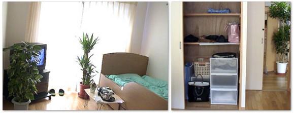 フローリングの室内と収納スペース